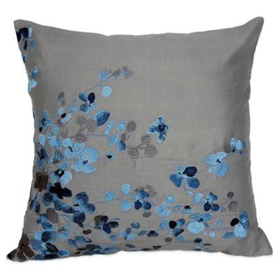 Hycroft Embroidered Square Throw Pillow