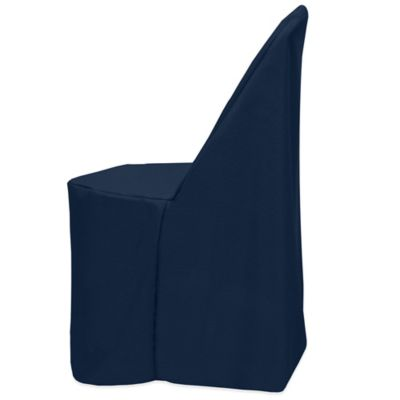 Basic Polyester Cover for Plastic Folding Chair in Midnight Navy