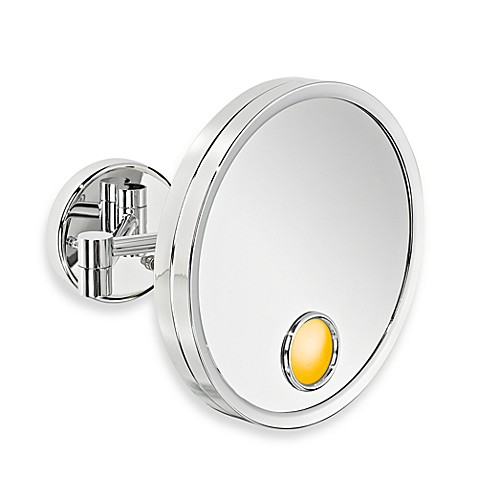 Jerdon Halo Light® 3X Magnification Wall Mirror in Chrome