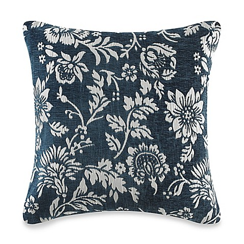 Myop Throw Pillow Covers : MYOP Floral Square Throw Pillow Cover in Teal - Bed Bath & Beyond