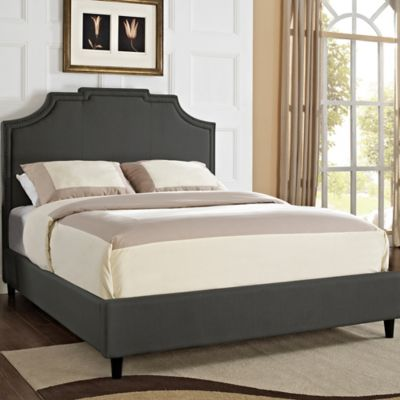 Powell Keystone Nail Head King Headboard