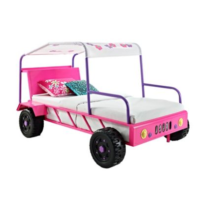 Powell Furniture Dune Buggy Twin Bed in Pink/Purple