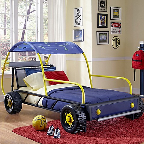 Powell Dune Buggy Twin Bed In Black Blue Yellow Furniture Www