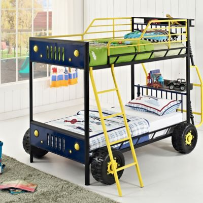 Powell Dune Buggy Car Twin-Over-Twin Bunk Bed