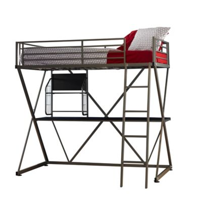 Powell Pewter Z Loft Bed