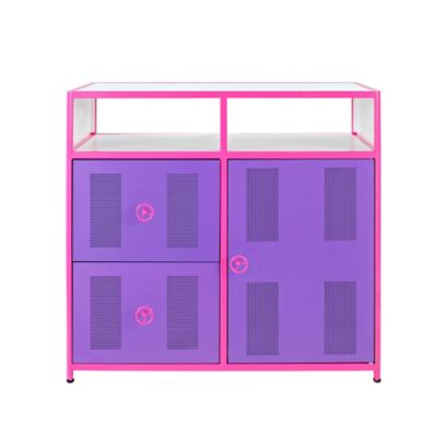 Powell Furniture Dune Buggy 1 Door, 2 Drawer Cabinet in Purple/Pink