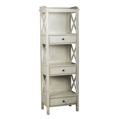 Pulaski 3-Drawer Wooden Bookcase in White