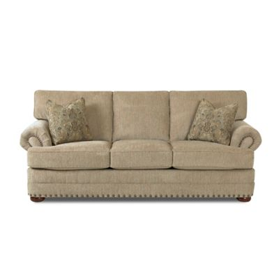 Klaussner Cliffside Sofa in Brown