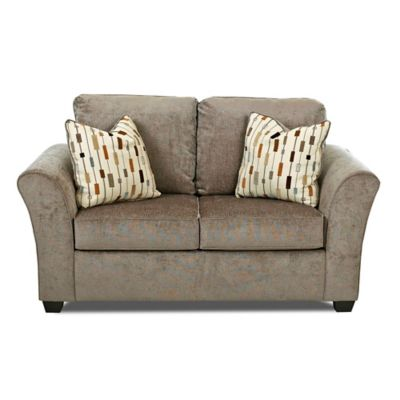 Klaussner Salina Loveseat in Brown