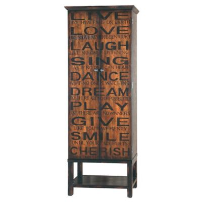 Black Brown Wine Cabinet