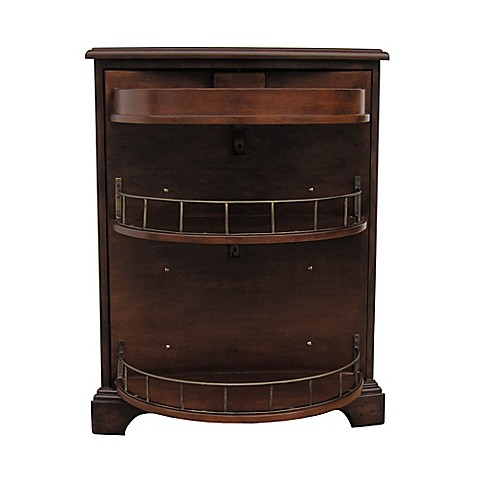 Buy Pulaski Curved Front Bar Cabinet In Brown From Bed