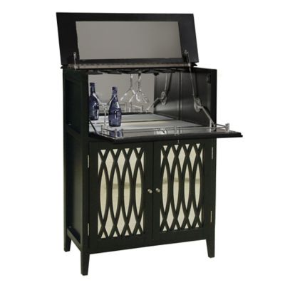 Pulaski Modern Wine Chest in Black