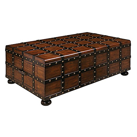 Pulaski Steamer Trunk Cocktail Table - www.BedBathandBeyond.com
