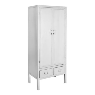 Safavieh Kingsley Cabinet in Stainless Steel