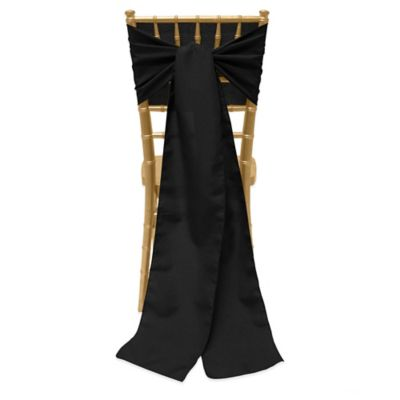 Basic Polyester Chair Ties in Black