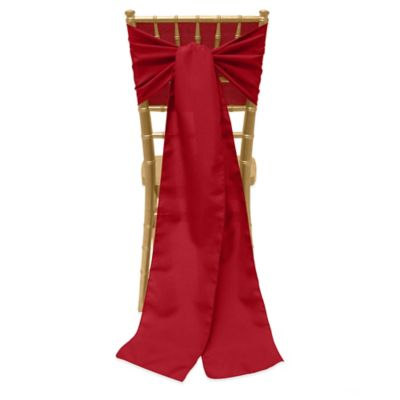 Basic Polyester Chair Ties in Holiday Red