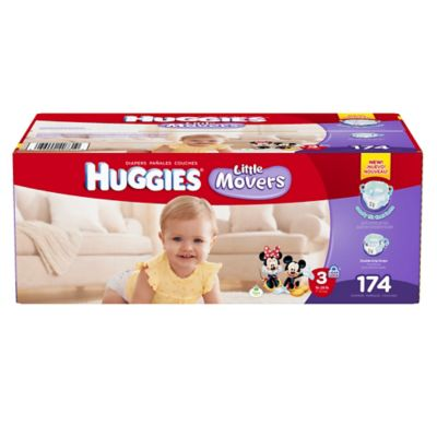 Huggies® Little Movers 174-Count Size 3 Diapers