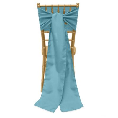 Basic Polyester Chair Ties in Turquoise