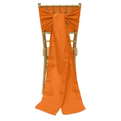 Basic Polyester Chair Ties in Orange
