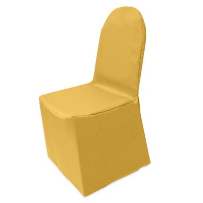 Basic Polyester Cover for Banquet Chair in White
