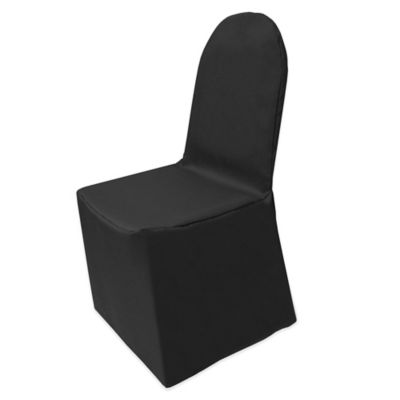 Basic Polyester Cover for Banquet Chair in Black