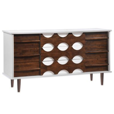 Zuo® Modern Seattle Double Dresser in Walnut and White