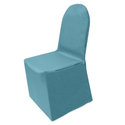 Basic Polyester Cover for Banquet Chair in Turquoise