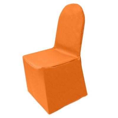 Basic Polyester Cover for Banquet Chair in Orange