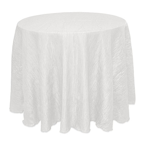 Buy Delano 90 Inch Round Tablecloth In White From Bed Bath