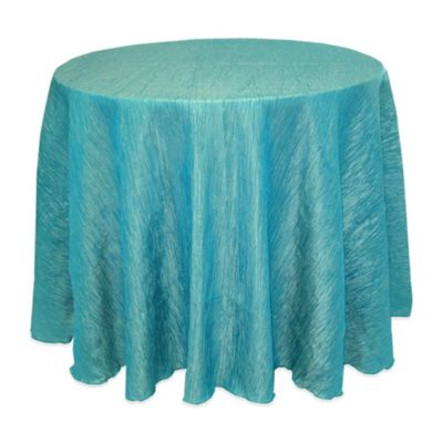 Delano 90-Inch Round Tablecloth in Turquoise