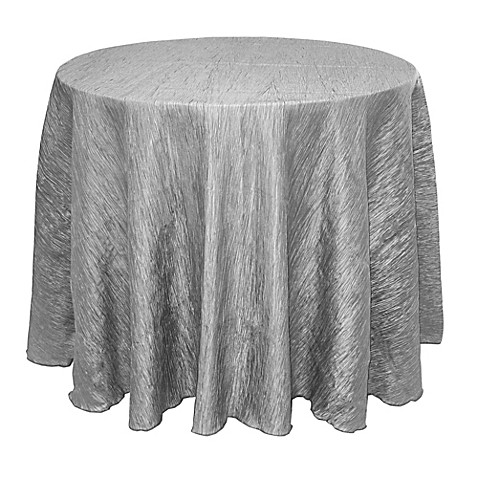 Buy delano 108 inch round tablecloth in silver from bed for 108 inch round table cloth