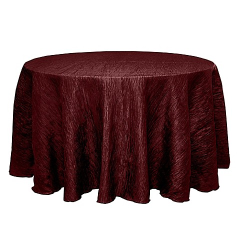 Buy delano 120 inch round tablecloth in burgundy from bed for 120 inch round table cloths
