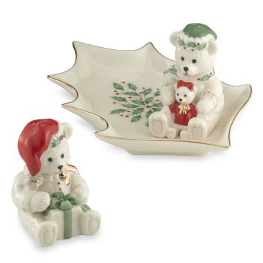 Lenox Holiday™ Bear Salt and Pepper Set