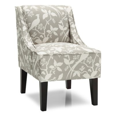 dwell home marlow accent chair with bardot upholstery in platinum