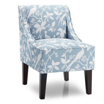 Dwell Home Marlow Accent Chair with Bardot Upholstery in Robin's Egg