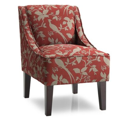 Dwell Home Marlow Accent Chair with Bardot Upholstery in Crimson