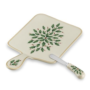 Lenox Holiday™ Cheeseboard with Spreader