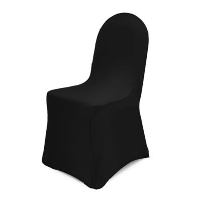 Pizzazz Banquet Chair Cover in Black