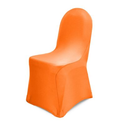 Pizzazz Banquet Chair Cover in Neon Orange