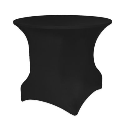 Pizzazz 36-Inch Round Table Cover in Black