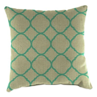20-Inch Square Outdoor Throw Pillow in Sunbrella® Accord Jade