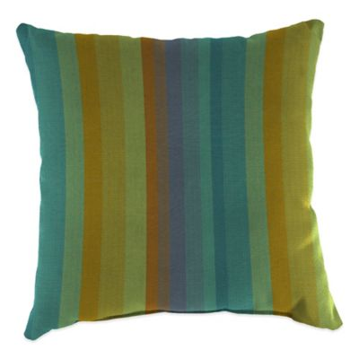 20-Inch Square Outdoor Throw Pillow in Sunbrella® Astoria Lagoon