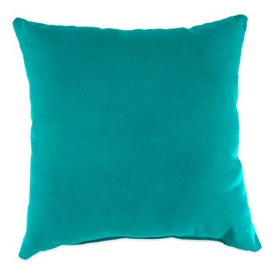 20-Inch Square Outdoor Throw Pillow in Sunbrella® Canvas Aruba