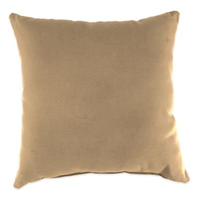 20-Inch Square Outdoor Throw Pillow in Sunbrella® Canvas Camel