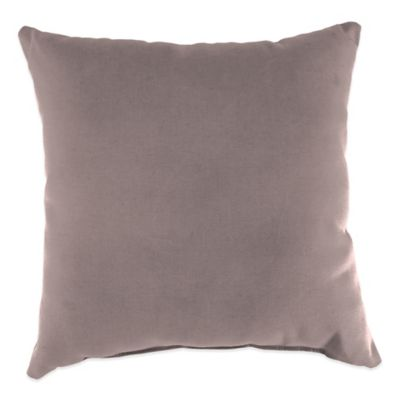 20-Inch Square Outdoor Throw Pillow in Sunbrella® Canvas Dusk