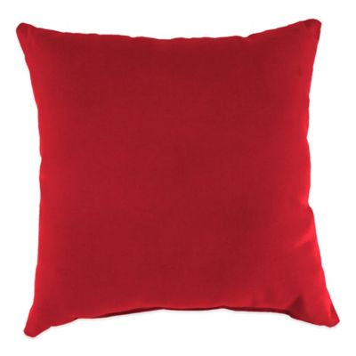20-Inch Square Outdoor Throw Pillow in Sunbrella® Canvas Jockey Red
