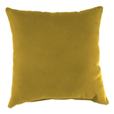 20-Inch Square Outdoor Throw Pillow in Sunbrella® Canvas Maize