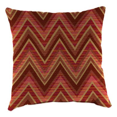 20-Inch Square Outdoor Throw Pillow in Sunbrella® Fischer Sunset