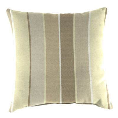 20-Inch Square Outdoor Throw Pillow in Sunbrella® Milano Flax