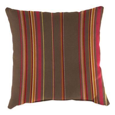 20-Inch Square Outdoor Throw Pillow in Sunbrella® Stanton Brownstone
